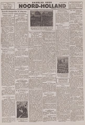 Dagblad Noord-Holland, Schager editie 1943-04-01