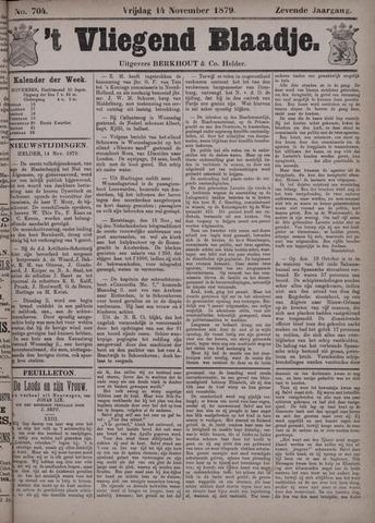 Vliegend blaadje : nieuws- en advertentiebode voor Den Helder 1879-11-14