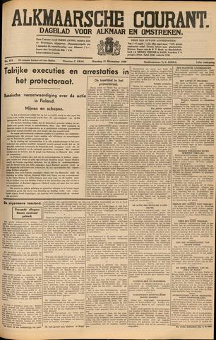 Alkmaarsche Courant 1939-11-21