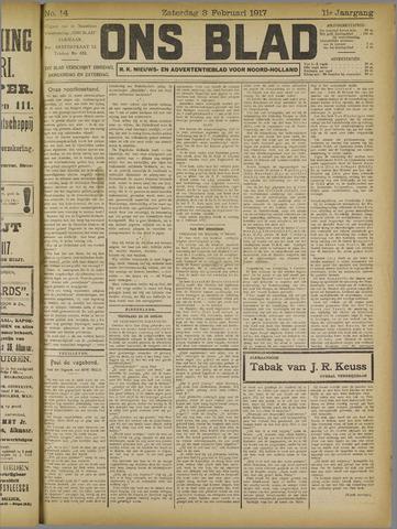 Ons Blad : katholiek nieuwsblad voor N-H 1917-02-03