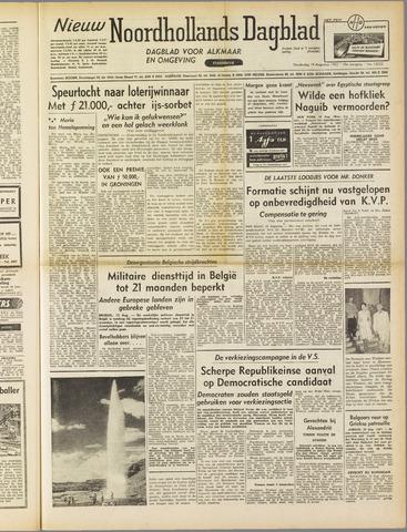 Nieuw Noordhollandsch Dagblad : voor Alkmaar en omgeving 1952-08-14