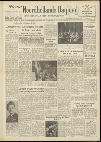Nieuw Noordhollandsch Dagblad : voor Alkmaar en omgeving 1948-12-02