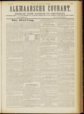 Alkmaarsche Courant 1915-09-16
