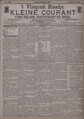 Vliegend blaadje : nieuws- en advertentiebode voor Den Helder 1886-11-20