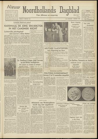 Nieuw Noordhollandsch Dagblad : voor Alkmaar en omgeving 1948-02-13