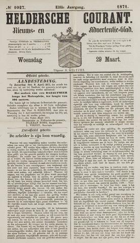 Heldersche Courant 1871-03-29