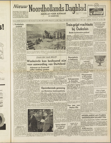 Nieuw Noordhollandsch Dagblad : voor Alkmaar en omgeving 1951-10-06