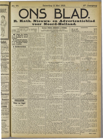 Ons Blad : katholiek nieuwsblad voor N-H 1912-05-11