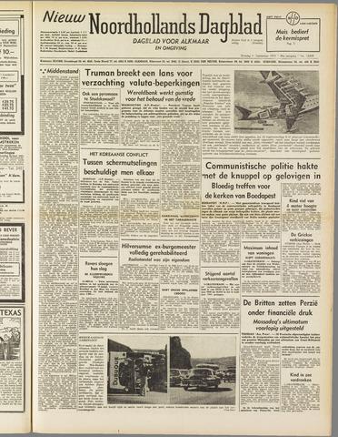Nieuw Noordhollandsch Dagblad : voor Alkmaar en omgeving 1951-09-11