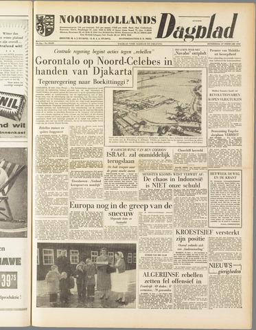 Noordhollands Dagblad : dagblad voor Alkmaar en omgeving 1958-02-27