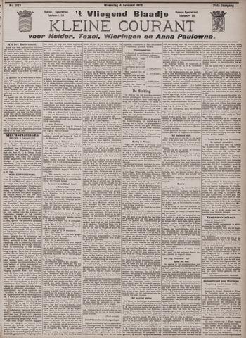 Vliegend blaadje : nieuws- en advertentiebode voor Den Helder 1903-02-04
