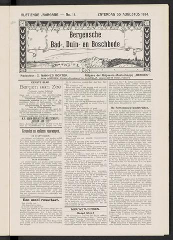 Bergensche bad-, duin- en boschbode 1924-08-30