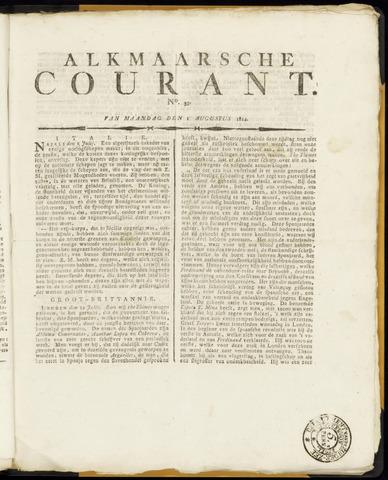 Alkmaarsche Courant 1814-08-01