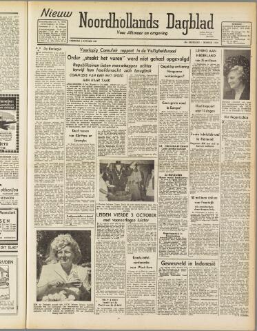 Nieuw Noordhollandsch Dagblad : voor Alkmaar en omgeving 1947-10-04
