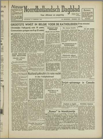 Nieuw Noordhollandsch Dagblad : voor Alkmaar en omgeving 1946-02-18