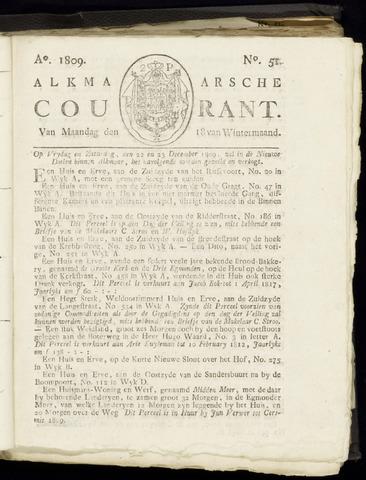 Alkmaarsche Courant 1809-12-18