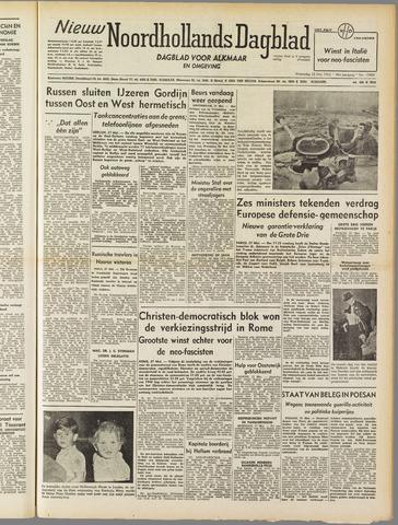 Nieuw Noordhollandsch Dagblad : voor Alkmaar en omgeving 1952-05-28