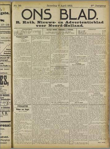Ons Blad : katholiek nieuwsblad voor N-H 1912-04-06