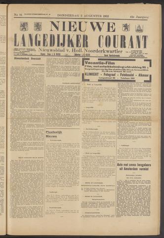 Nieuwe Langedijker Courant 1933-08-03