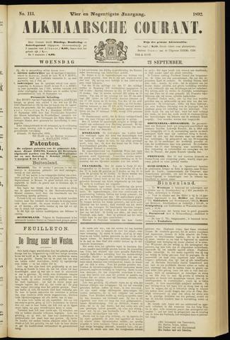 Alkmaarsche Courant 1892-09-21