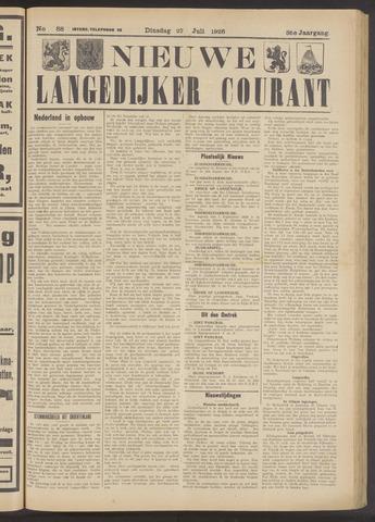Nieuwe Langedijker Courant 1926-07-27