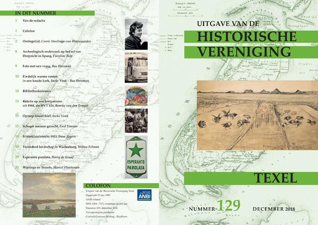 Uitgave Historische Vereniging Texel 2018-12-01