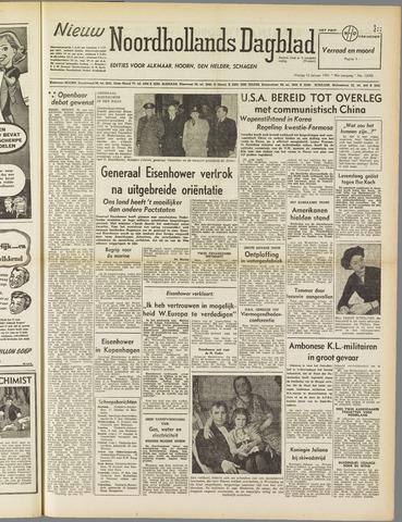 Nieuw Noordhollandsch Dagblad : voor Alkmaar en omgeving 1951-01-12