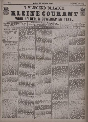 Vliegend blaadje : nieuws- en advertentiebode voor Den Helder 1881-08-19