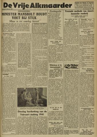 De Vrije Alkmaarder 1947-02-21