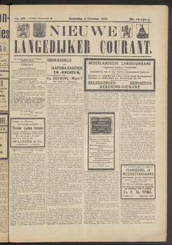 Nieuwe Langedijker Courant 1924-10-04