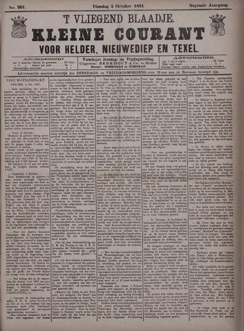 Vliegend blaadje : nieuws- en advertentiebode voor Den Helder 1881-10-04