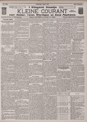 Vliegend blaadje : nieuws- en advertentiebode voor Den Helder 1912-04-06