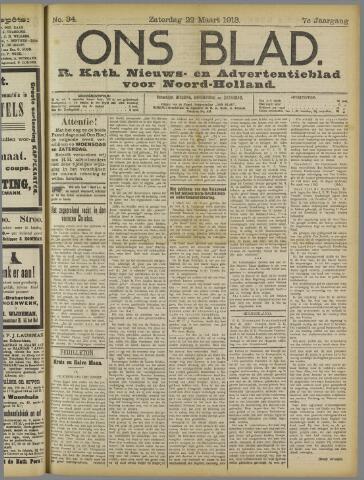 Ons Blad : katholiek nieuwsblad voor N-H 1913-03-22