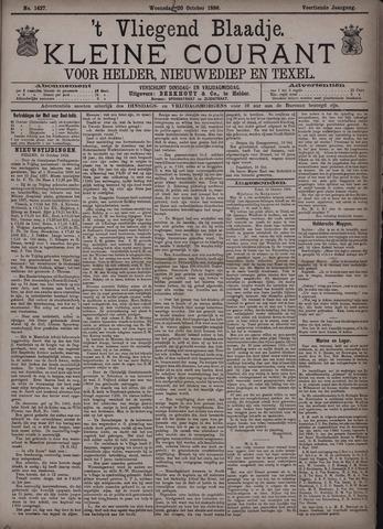 Vliegend blaadje : nieuws- en advertentiebode voor Den Helder 1886-10-20