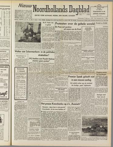 Nieuw Noordhollandsch Dagblad : voor Alkmaar en omgeving 1949-02-09