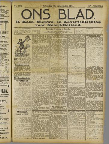 Ons Blad : katholiek nieuwsblad voor N-H 1911-12-23