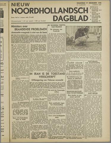 Nieuw Noordhollandsch Dagblad : voor Alkmaar en omgeving 1945-12-17