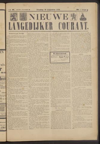 Nieuwe Langedijker Courant 1924-08-19