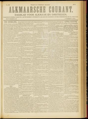 Alkmaarsche Courant 1918-02-07
