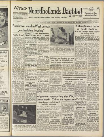 Nieuw Noordhollandsch Dagblad : voor Alkmaar en omgeving 1951-02-02
