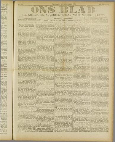 Ons Blad : katholiek nieuwsblad voor N-H 1920-09-15