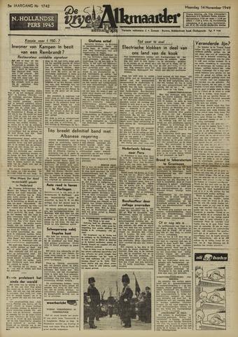De Vrije Alkmaarder 1949-11-14