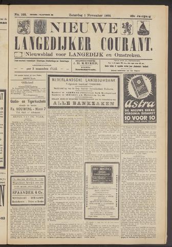 Nieuwe Langedijker Courant 1924-11-01