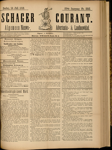 Schager Courant 1889-07-14