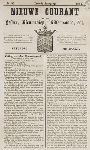 Nieuwe Courant van Den Helder 1862-03-22