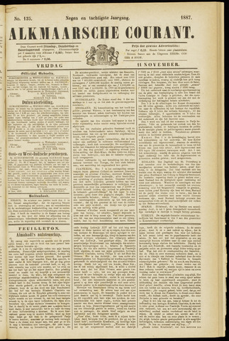 Alkmaarsche Courant 1887-11-11