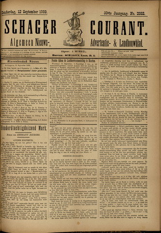 Schager Courant 1889-09-12