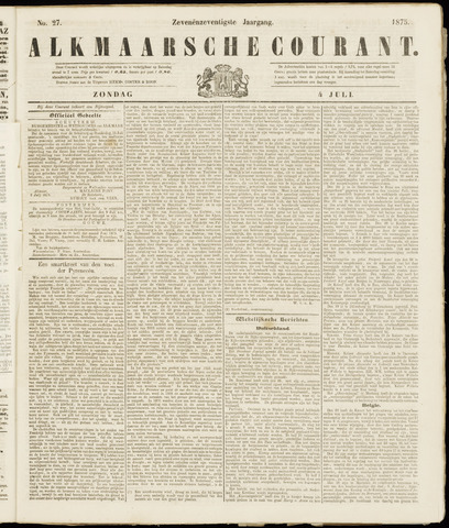 Alkmaarsche Courant 1875-07-04