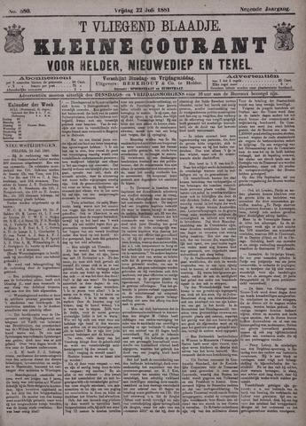 Vliegend blaadje : nieuws- en advertentiebode voor Den Helder 1881-07-22