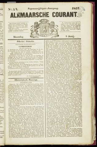 Alkmaarsche Courant 1857-06-08